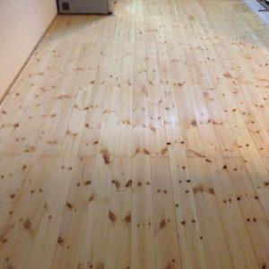 無垢フローリング DIY  レッドパイン LDK16畳 +仕事部屋6畳