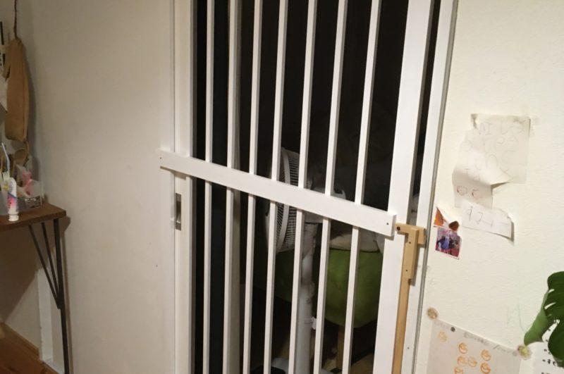 DIY 猫フェンスドア
